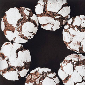 Chocolate Hazelnut Crinkle Cookies